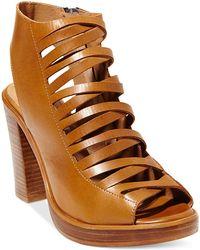 Steve Madden Women'S Lace-Up Platform Dress Sandals - Lyst