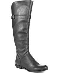 Volatile - Benji Leather Kneehigh Boots - Lyst