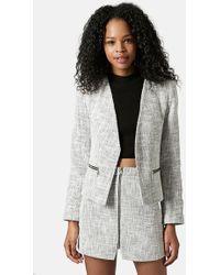 Topshop Women'S 'Rosie' Boucle Jacket - Lyst