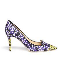 Jimmy Choo 'Alia' Contrast Floral Leopard Jacquard Pumps - Lyst