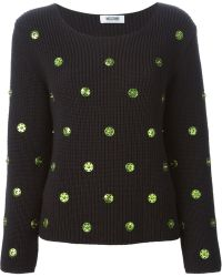 Moschino Cheap & Chic Snap Buttons Embellished Sweater - Lyst