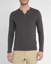 Harris Wilson Slate-Grey Richard Cotton-Jersey Long-Sleeve T-Shirt - Lyst