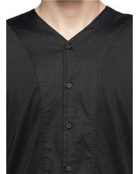 T By Alexander Wang - Button-up Jersey Shirt - Lyst