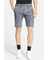 Helmut Lang Men'S 'Distorted Effect' Stretch Cotton Canvas Shorts - Lyst
