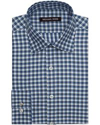 Michael Kors Twill Check Dress Shirt - Lyst