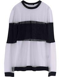 Damir Doma   Womens Sheer Block Panel Kerria Knitted Jumper   Lyst