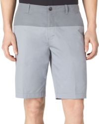 Calvin Klein Colorblocked Twill Slimfit Shorts - Lyst