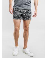 Topman Paisley Printed Short Shorts - Lyst