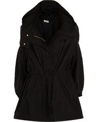 Jil Sander Hooded Cotton-Shell Coat - Lyst