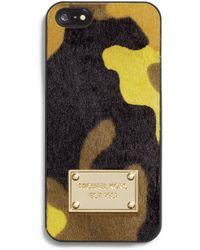 MICHAEL Michael Kors Camo Hair Calf Phone Case - Lyst