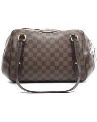 Louis Vuitton Preowned Damier Ebene Rivington Gm Bag - Lyst