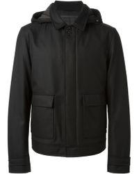 Ferragamo Hooded Jacket - Lyst