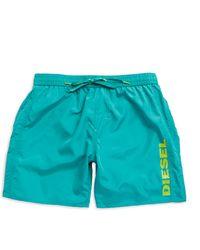 Diesel Logo Swim Shorts green - Lyst