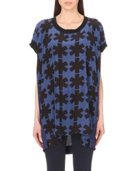 Vivienne Westwood Anglomania Asterisks-Print Silk-Blend Tunic - For Women blue - Lyst