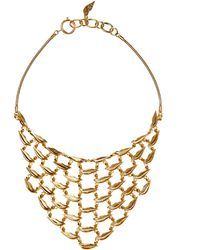 Diane von Furstenberg - Gold-plated Lips Necklace - Lyst