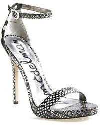 Sam Edelman 'Eleanor' Snake Embossed Ankle Strap Sandal - Lyst