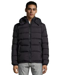 Burberry Brit Black Quilted Hooded Down Jacket - Lyst