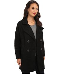 Free People Mid Thigh Overcoat Jacket - Lyst