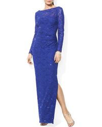 Pink Pony Lauren Gown - Sequin Lace - Purple