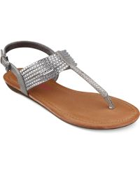 Pink And Pepper - Pink & Pepper Mega T-strap Demi Wedge Sandals - Lyst