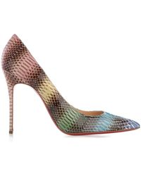 Christian Louboutin Decollete 100Mm Watersnake Pumps - Lyst