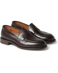 J.Crew Ludlow Leather Penny Loafers - Lyst