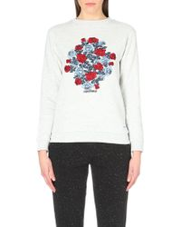 A Question Of - Roses Cotton-Jersey Sweatshirt - For Women - Lyst