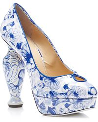 Charlotte Olympia Koi Printed Patentleather Platform Pumps - Lyst
