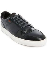 Hugo Futuren Two-Tone Navy Leather Sneakers - Lyst