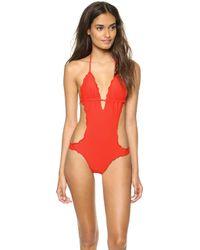 Vix Sofia By Vix Ripple One Piece Swimsuit Scarlet - Lyst