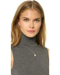 Monica Rich Kosann - Petite Sunburst Locket Necklace - Silver - Lyst