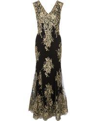 Jacques Vert - Metallic Lace Applique Maxi Dress - Lyst