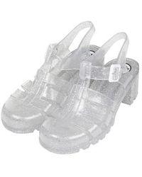 Topshop Nina Jelly Sandals By Juju transparent - Lyst
