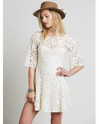 Free People Womens Gypsy Mountain Mini Dress - Lyst