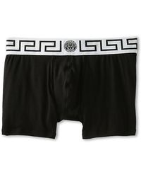 Versace Iconic Long Boxer with White Band - Lyst