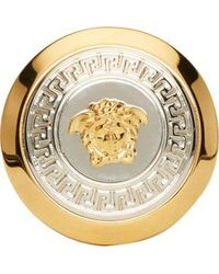 Versace Gold and Silver Medusa Medallion Ring - Lyst