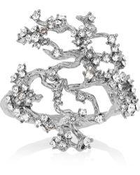 Alexander McQueen Silver-Plated Swarovski Crystal Cuff - Lyst