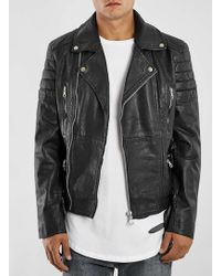 bdba53ac8 Black Belted Leather Biker Jacket*