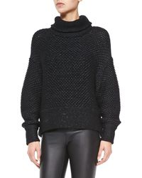 Helmut Lang Opacity Shimmery Knit Oversize Sweater - Lyst