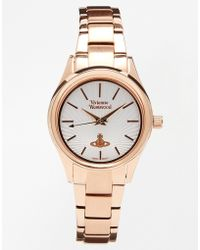 Vivienne Westwood Time Machine Rose Gold Bracelet Watch Vv111rs - Lyst