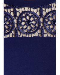 Muse Jewel Tone You So Dress - Blue