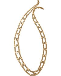 Madewell Soldered Strand Necklace Vintage Gold - Lyst