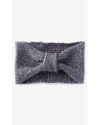 Express - Metallic Knotted Headwrap - Lyst