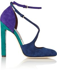 Brian Atwood Color-block Suede Pumps - Lyst