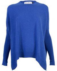 Gladys & Pixie Gladys and Pixie Dark Blue Swing Scoop Neck Sweater - Lyst