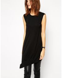 Asos Tunic In Crepe With Sheer Chiffon Back - Lyst