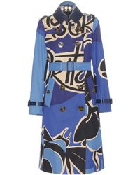 Burberry Prorsum Vintage Book Cotton Trench Coat blue - Lyst