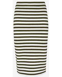 A.L.C. Marilyn Striped Knit Pencil Skirt - Lyst