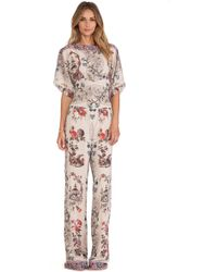Anna Sui Prince Of Pagodas Print Jumpsuit - Lyst