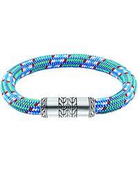 John Hardy Mens Classic Chain Multicolor Cord Bracelet - Lyst